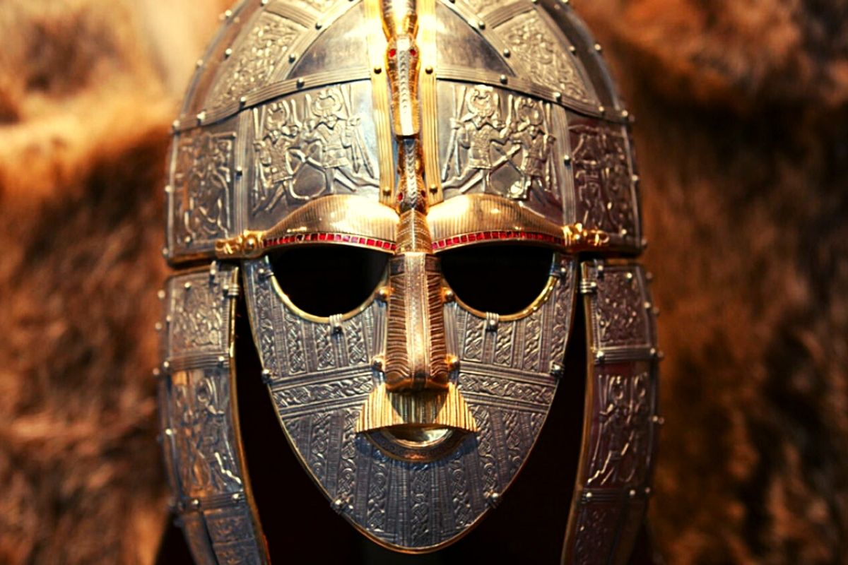 Anglo Saxon Helmet at Sutton Hoo