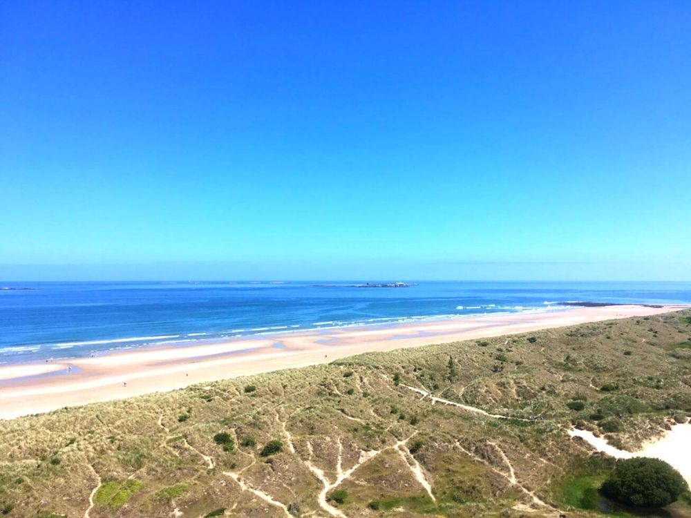 Bamburgh Beach and the Dunes in Northumberland