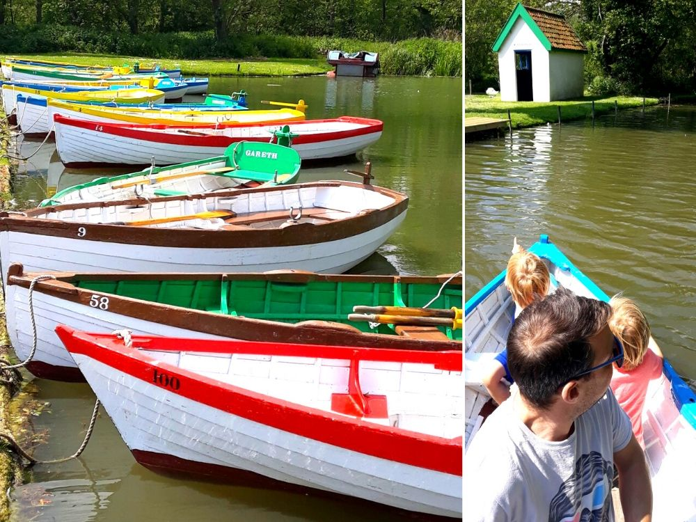 Boating on Thorpeness Meare