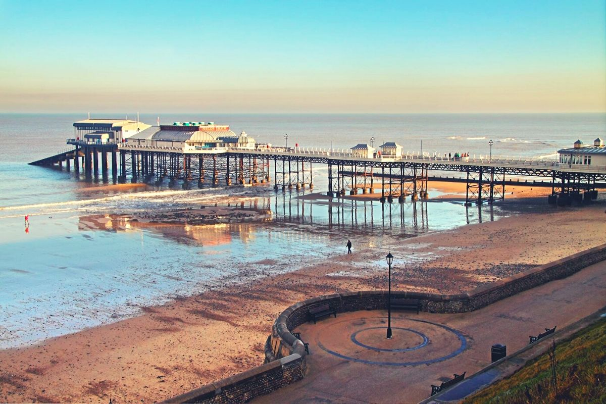 Cromer beach and pier in North Norfolk