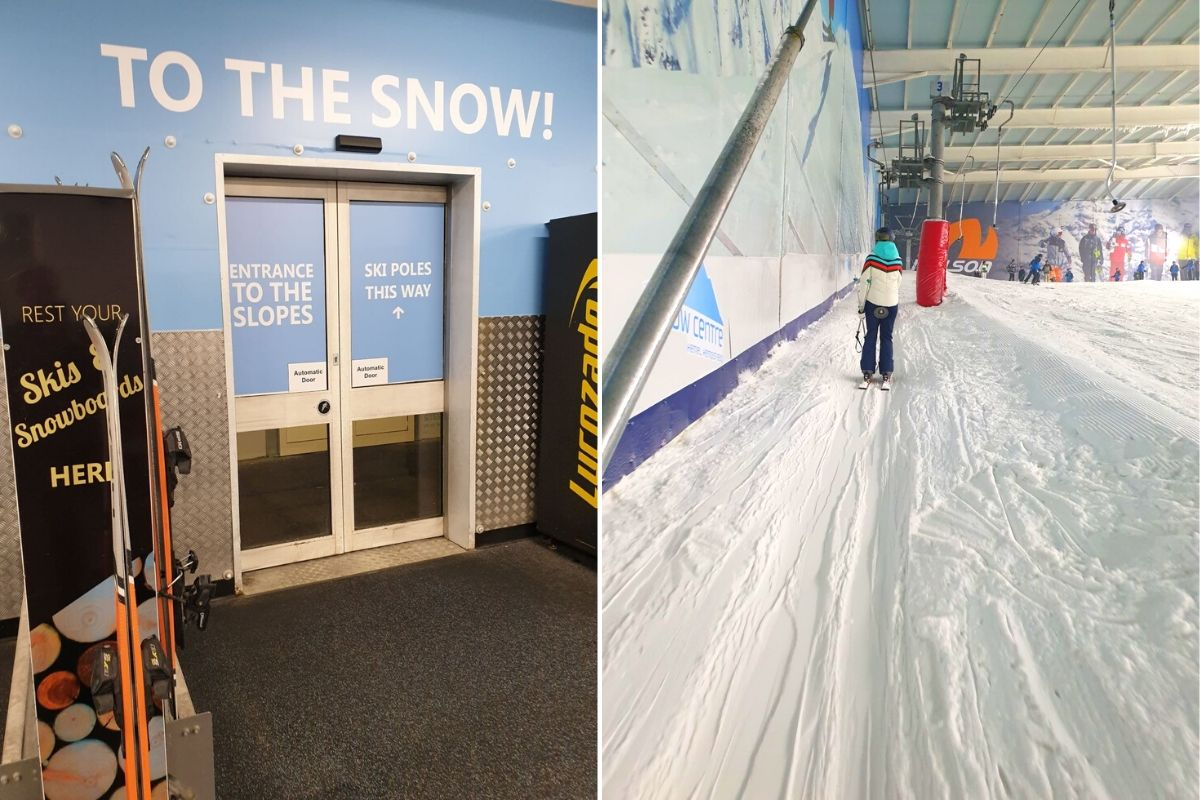 Getting onto the ski slopes at the Hemel Snow Centre