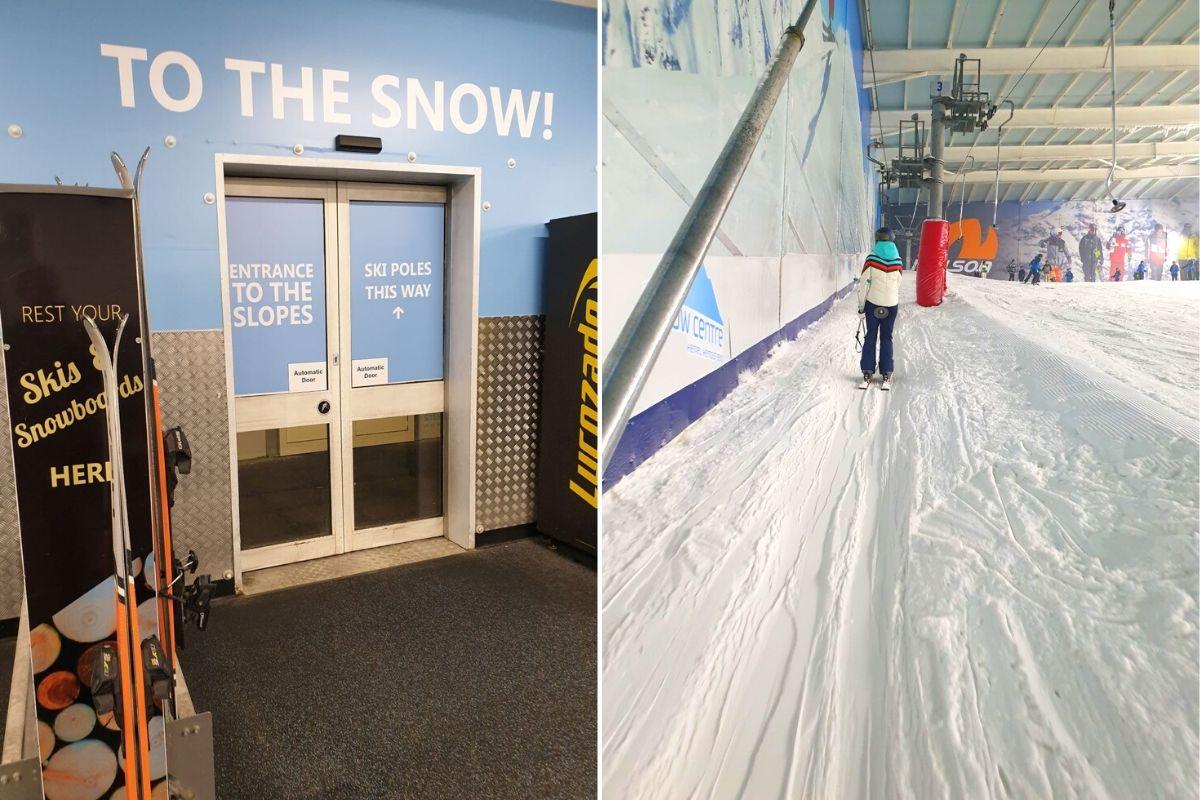 Getting onto the ski slopes at the Hemel Snow Centre