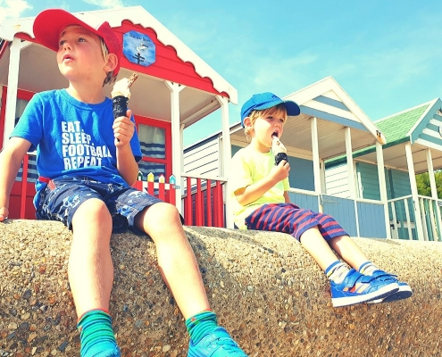 Ice Creams by the beach huts in Southwold