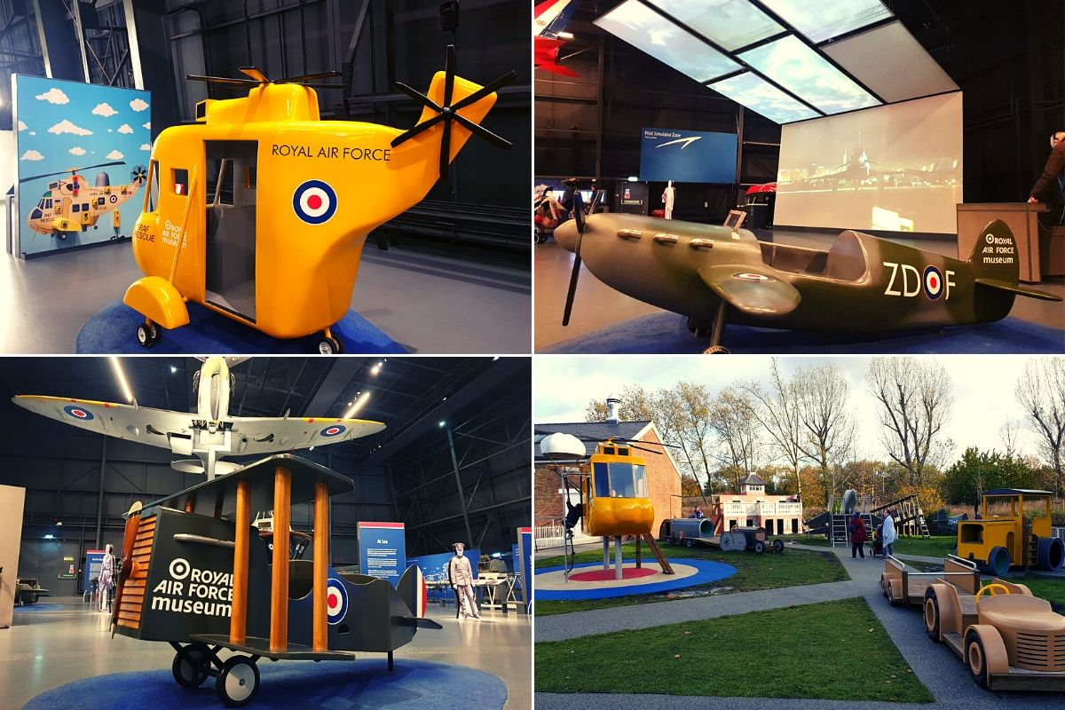 Indoor and Outdoor play equipment at the RAF Museum London