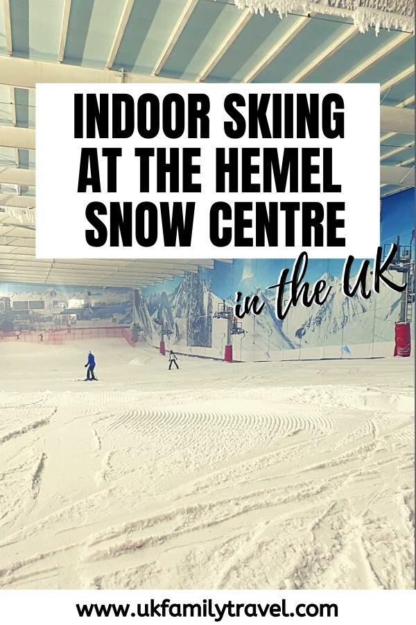 Indoor skiiing at the Hemel Snow Centre in the UK