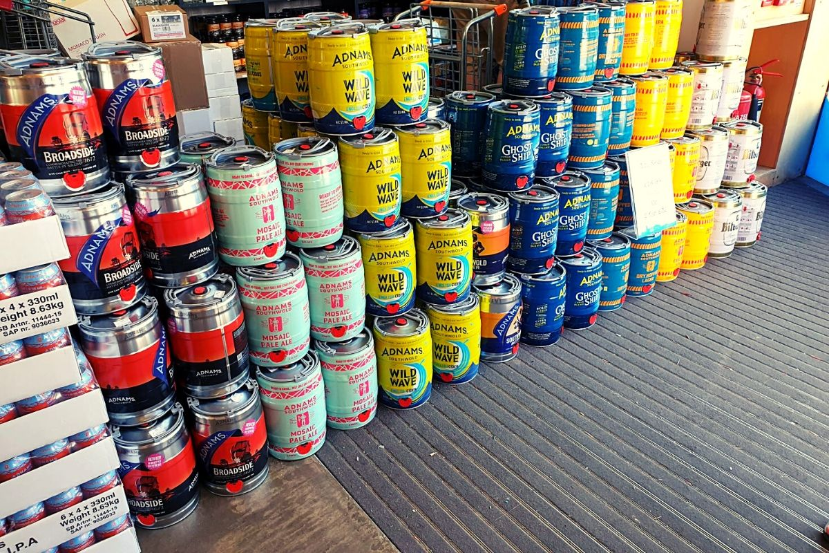 Kegs of Adnams Beer