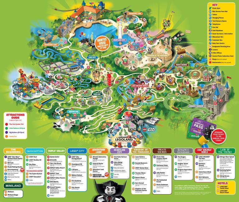 Legoland Windsor Map