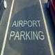 Luton airport parking sign on tarmac