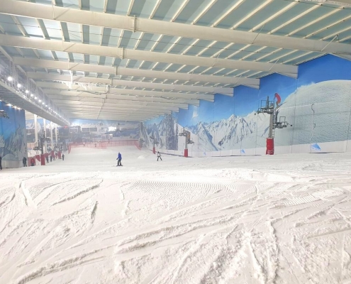 Main ski slope at the Snow Centre in Hemel