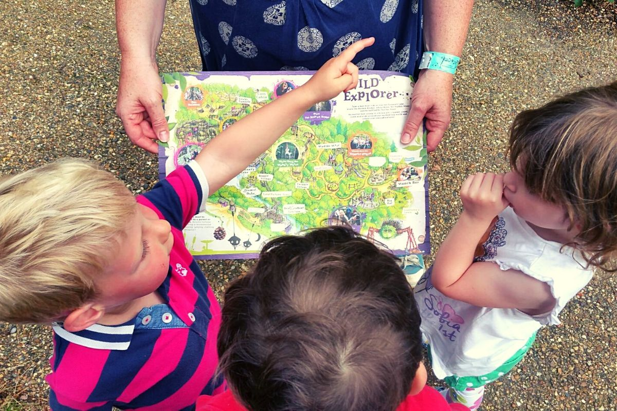 Planning your day at BeWILDerwood