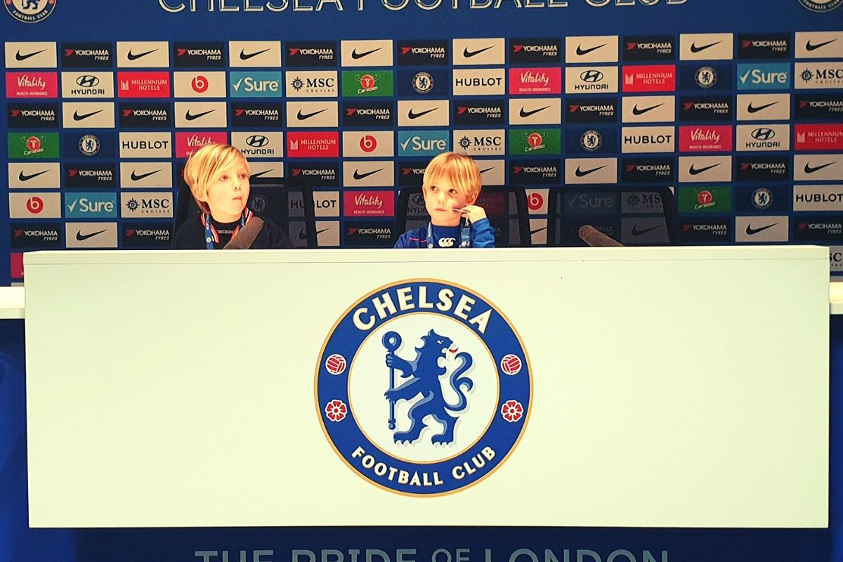 Press Room at Chelsea Football Stadium