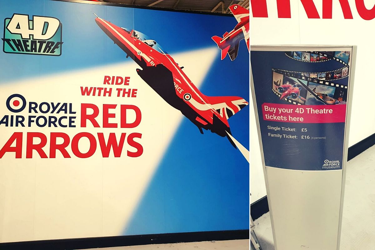 Red Arrow Ride at the RAF Museum London