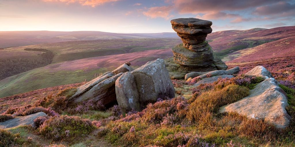 Salt Cellar on Derwent Edge in the Peak District National Park