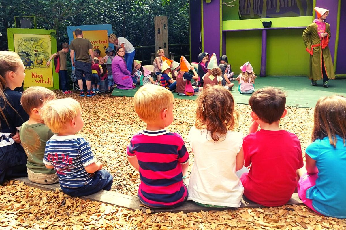 Story time at the Storytelling Stage
