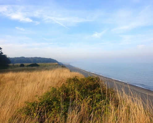 View along the coast from the Dunwich Cliffs