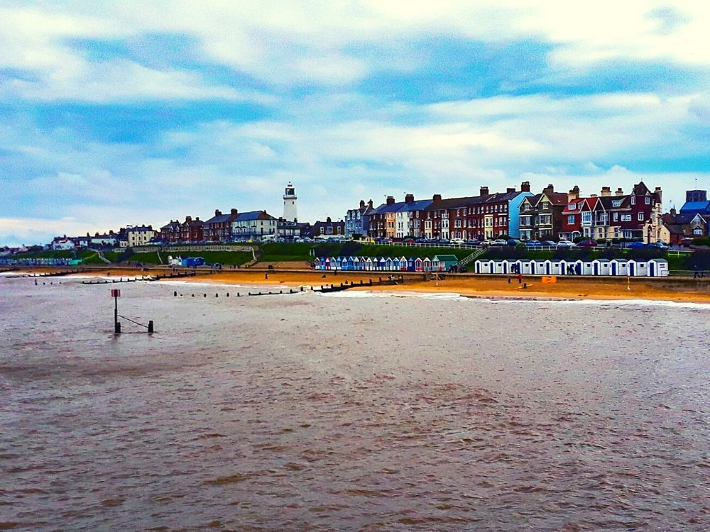 View of Southwold Beach from Southwold Pier