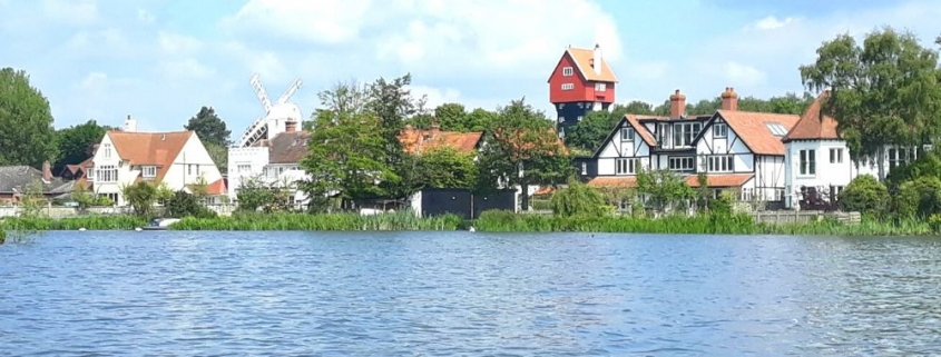 View of the House in the Clouds Thorpeness from the Boating Lake