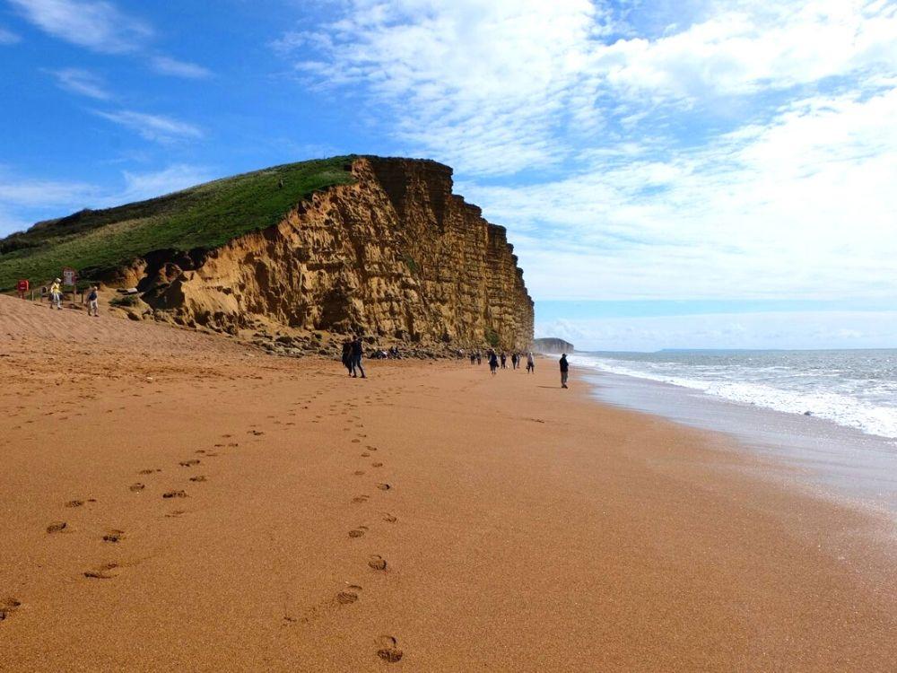 West Bay Beach in Dorset
