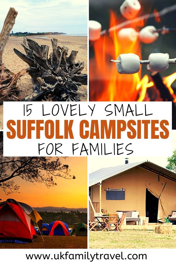 15 lovely small Campsites in Suffolk for Families