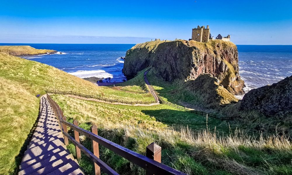 Dunnottar Castle near Stonehaven in Scotland