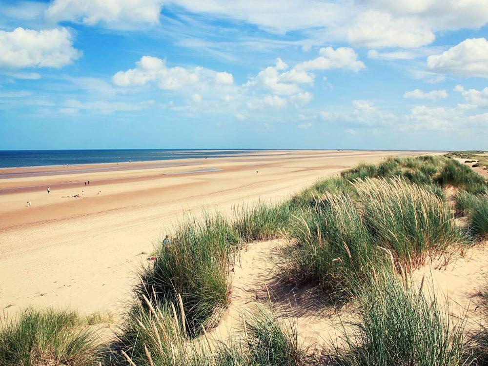 Holkham Beach in Norfolk