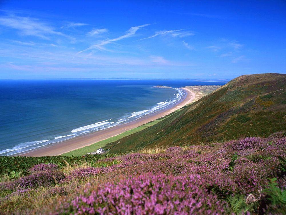 Rhossili Beach in Wales