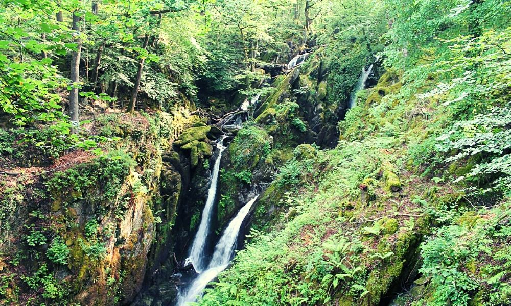 Stock Ghyll Waterfall near Ambleside