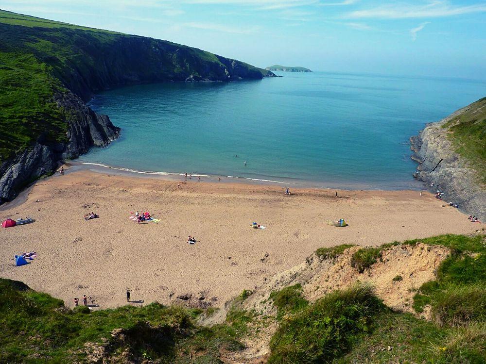 Traeth Mwnt Beach in Wales