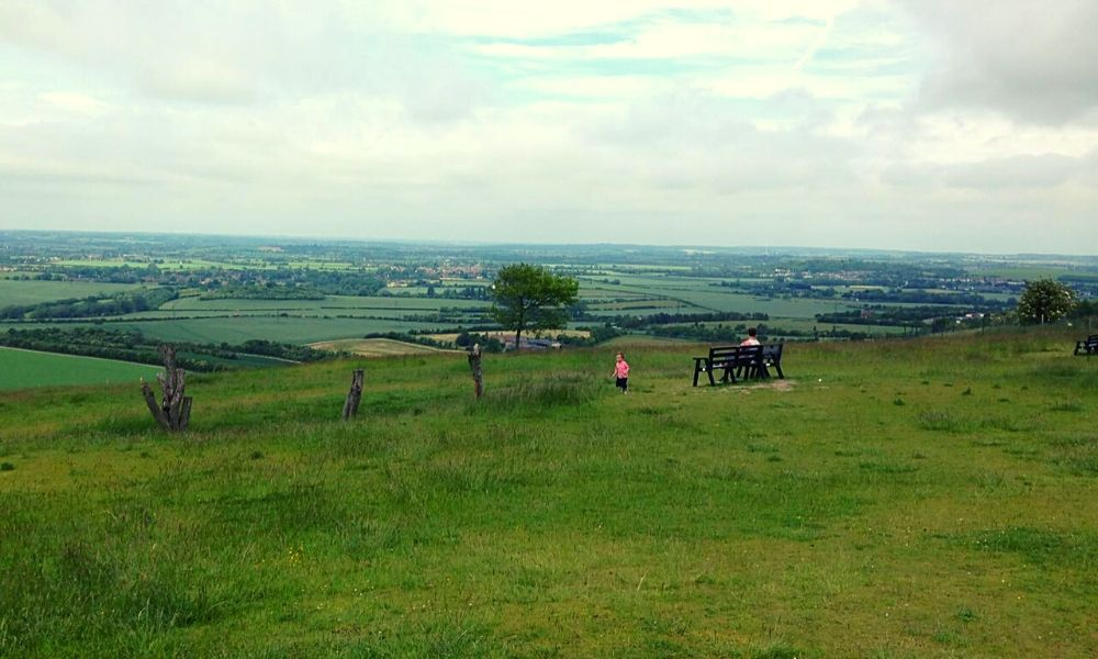 Views over Hertfordshire from Whipsnade Zoo